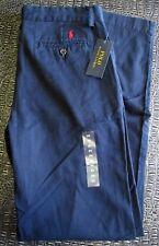 NEW Polo Ralph Lauren Boys Aviator Navy Blue Chino Pants 20 XL Uniform NWT