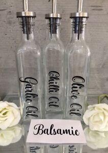 Mrs Hinch Oil Bottle Labels Sticker Decal for Kitchen Olive Oil Bottles Pourer