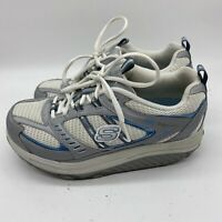 Sketchers Shape Ups 11814 Womens Walking Toning Shoes Gray White Size 7.5 Blue