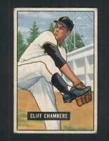 1951 Bowman #131 Cliff Chambers VG/VGEX Pirates 105058