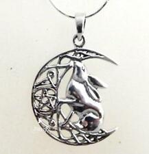 Silver Moon Gazing Hare necklace by Lisa Parker Sterling .925 Licensed Product