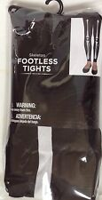 Ladies Footless Tights New Black Skeleton One Size Fits Up to 155 lbs