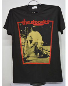 The Stooges Iggy Pop TShirt Punk Rock Band Men's T-Shirt, 100% Cotton Round neck