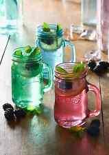 Lot de 2 KILNER préserver Mason poignée potable boissons Pots, bleu