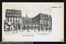 "GERMANY 97.-FRANKFURT -Hotel "" Frankfurter Hof """