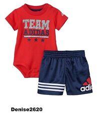 "Baby Boy Adidas ""Team Adidas"" Tee & Shorts Set Size 3 Months NWT"