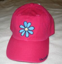 LIFE IS GOOD NWT LIG Daisy Chill Baseball Ball Hat Cap Pink Girls Small NEW