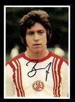 Dieter Bast Autogrammkarte Rot Weiss Essen Spieler 70er Jahre Original Sign