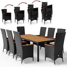 DEUBA® Poly Rattan Sitzgruppe Sitzgarnitur 8+1 Lounge Garten Gartenmöbel Set