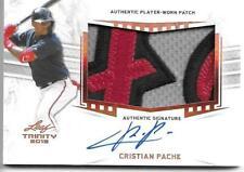 2019 Leaf Trinity Baseball CRISTIAN PACHE #PA-CP1 Patch On-Card Autograph