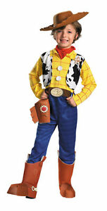 WOODY Boy Child Deluxe Costume Disney Toy Story Size 4 6 7 8 Cowboy Halloween