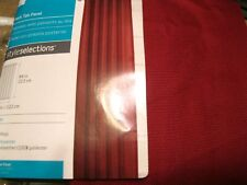 Style Selections ADRIAN Red Back Tab Curtain  48 by 84L item 0351724  NIP