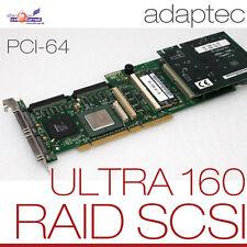 SCSI PCI-64 BIT ADAPTEC ULTRA WIDE 160 CONTROLLER 3200S 0M RAID 0 1 5/2x 68 PIN