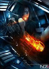 "Mass Effect 2 3 4 Game Fabric poster 36"" x 24"" Decor 86"