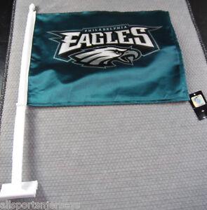 NFL Philadelphia Eagles Logo on Green Window Car Flag by Fremont Die
