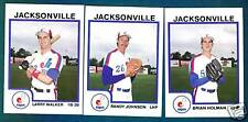 1987 Pro Cards JACKSONVILLE EXPOS Team Set (Randy Johnson / Larry Walker)
