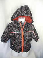 BNWT Boys Size 1 H&T Brand Black/Grey Mesh Lined Semi Waterproof Spray Jacket