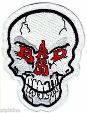 Patch Brodé Bad Ass Skull - Style Biker Harley