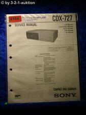Sony Service Manual CDX 727 CD Changer (#4166)