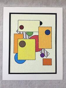 Abstract Painting Original  Colorful Geometric Shapes Mondiran Style Art