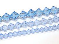 Glasperlen 4/6/8mm 3 Strange Perlenset Aqua Blau Schmuckherstellung BEST D315B