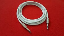 """3' Canare L-4E6S Star Quad Balanced Cable 1/4"""" TRS to 1/4"""" TRS Stereo White 3 ft"""