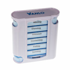 Vanlo Tower Pillbox Pill Box Dispensers 7-day 4 Daily Schedule Lines