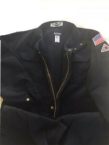 Bulwark Navy Blue Nomex IIIA FR Coverall size 42 Regular # CNB6NV6 HRC-1 No Flag
