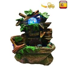 Fuente de Habitación De Piedra Artificial con bola LED de colores
