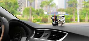 Car Decoration Cosplay Dolls for Star Wars Creative Ornaments Black White Sword