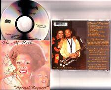 IDA MCBETH- Special Request CD 1998 Album *HAND SIGNED* Soul-Jazz/Blues