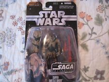 STAR WARS SAGA COLLECTION #61 CAMOUFLAGE SUPER BATTLE DROID CARDED FIGURE