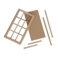 1:12 Scale Dolls House Miniature Wooden 12-Pane Window Frame 5.2 x 2.83 inch New