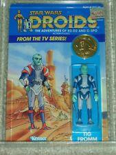 Vintage Star Wars 1985 Kenner CAS/AFA 75/85/85 TIG FROMM DROIDS Card Back MOC!