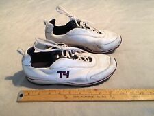 TOMMY HILFIGER WOMEN'S LEATHER LACE UP ATHLETIC SNEAKERS SHOES US 7M WHITE