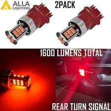 Alla Lighting 3157 LED Rear Turn Signal Light Flash Blinker Bulb Lamp Bright Red