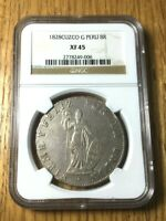1828 Peru G 8 reales cusco cuzco republican silver NGC XF 45 CUZ pcgs NOT LIMA