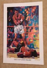Muhammad Ali Sonny Liston Boxing Print Lithograph Sign by Artist Winford Get Up.