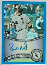 BRENT MOREL 2011 Topps Chome ROOKIE Blue Refractor On Card Auto 97/199 WHITE SOX