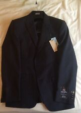 BNWT Mens M&S Savile Row Inspired Navy Textured Tailored Fit Wool Jacket 38 Med