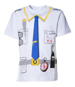 Großhandel 30 stück Kinder Uniform Kostüm T-Shirt * Kapitän 92/98 bis 140/146