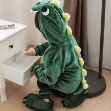 Kids Boys Girls Kigurumi Sleepwear Animal Cosplay Costume Hooded Pajamas Rompers
