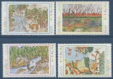 LAOS N°1384/1387** Dessins d'enfants, 2000, children's drawings Set MNH