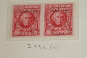 Lot 4 R198 3c, R208 2c, 1914 Documentary Revenue Wtrmrk + 1940 R299a pair Mint