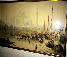 DAVID ROBERTS Framed W/C 1833 HAGIA SOPHIA ON BOSPHORUS  Constantinople Rare!