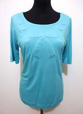 MOSCHINO camiseta Mujer Viscosa Rayón Seda mujer camiseta Sz. S - 40