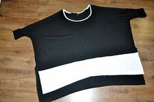 Lagenlook ° oversize ° blogueros ° XXXXL-recuadro-shirt ° Black & White ° stulpenärmel °