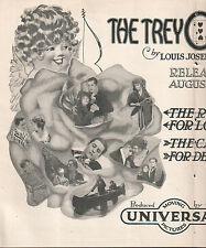 Cleo Madison George Larkin 1914 Ad- The Trey O' Hearts/on Universal/2 page ad
