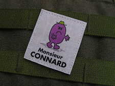 """SNAKE PATCH """" MONSIEUR CONNARD """" - humour AIRSOFT PAINTBALL"""