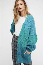 NEW Free People Aquatic Oversized Cardi Size Medium Cardigan Sweater